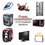 Power consumption of 101+ typical household appliances