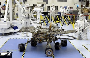 building mars rover opportunity in lab