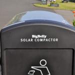 Trash bin BigBelly Solar compactor
