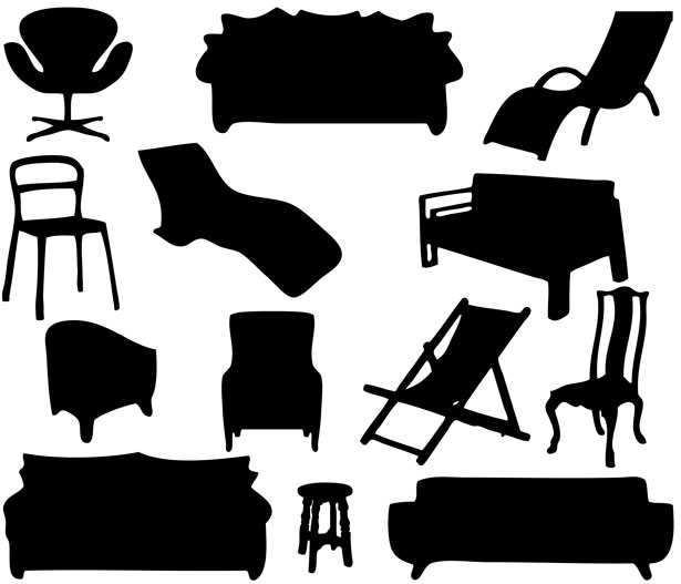 IKEA furniture silhouettes