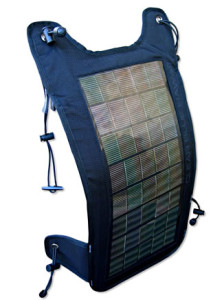 Portable solar – the Mana Solar Claw backpack cover