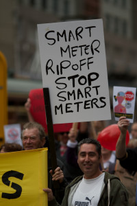 demonstration against smart meters