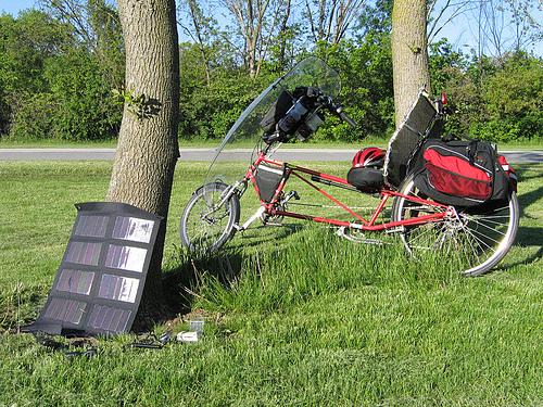portable solar camping trip